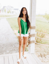 Sweet Scalloped Cami In Kelly Green