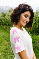 Three Star Top In Ivory