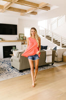 Tiered Tank Top in Coral