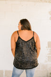 You Glow Girl Sequin Cami In Black