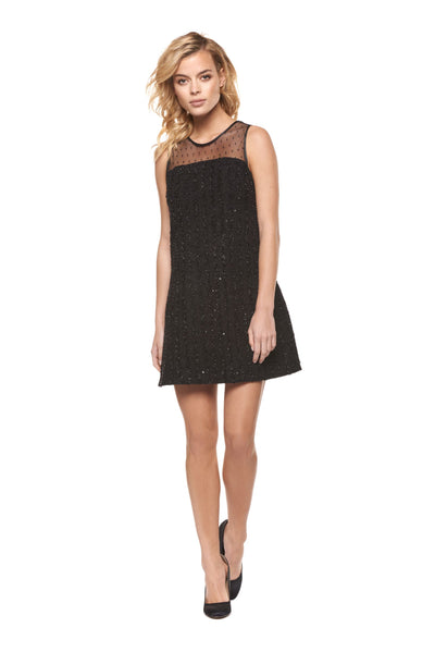 Sequin Mesh Combo Dress