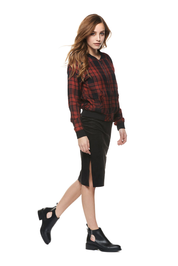 Brixton Plaid Bomber Jacket
