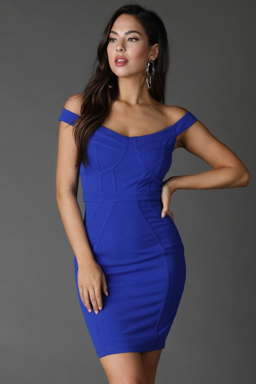 Piped Bodycon Dress