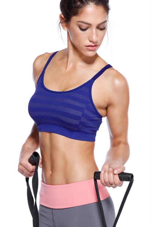Striped Adjustable Sports Bra