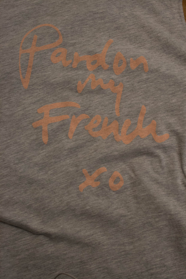 Pardon my French Crew Neck Flared Top
