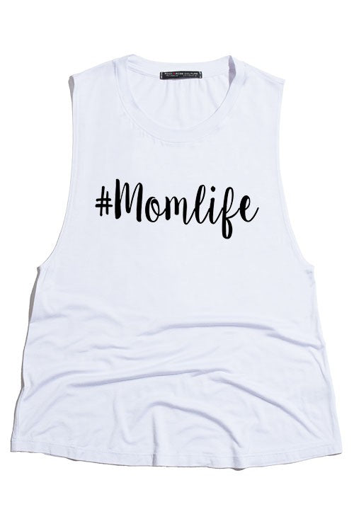 #MomLife SCOOPNECK TANK TOP