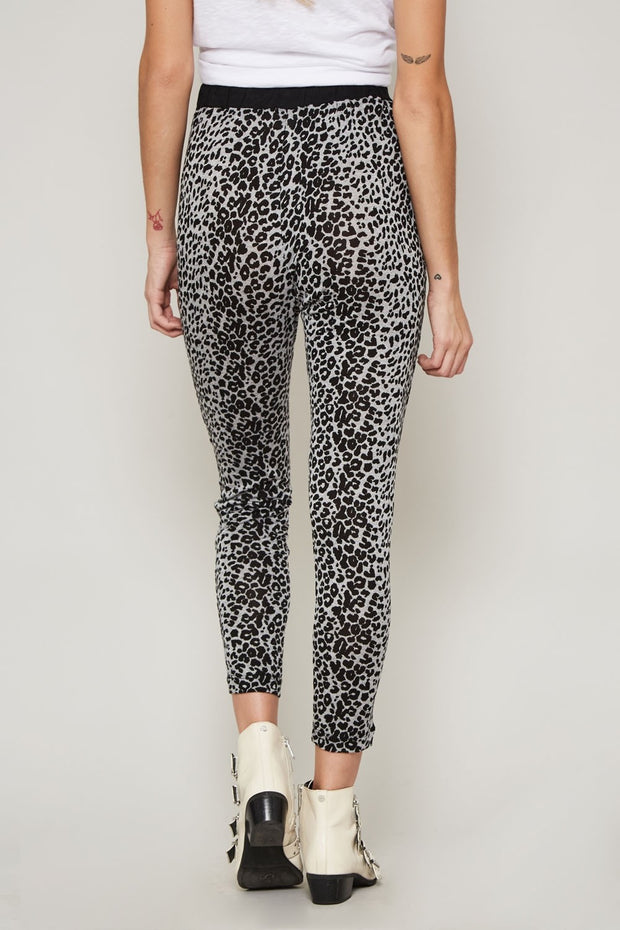 High-Waist Animal Print Knit Pants