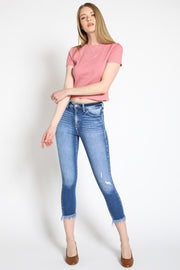 High Rise Ankle Skinny Jeans, by KanCan