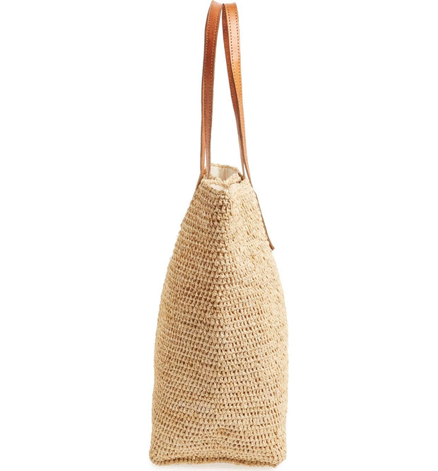 Portland - Crocheted Raffia Tote Bag