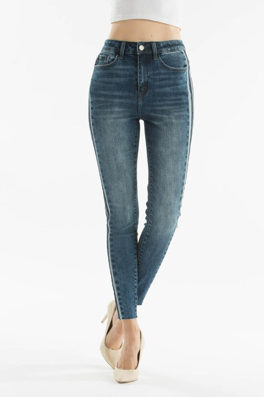 Stripped Skinny Jeans