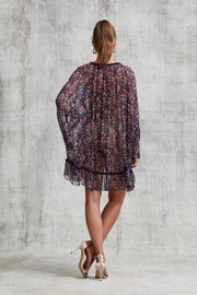 DRESS PONCHO BETY RUFFLED - Navy Azalea