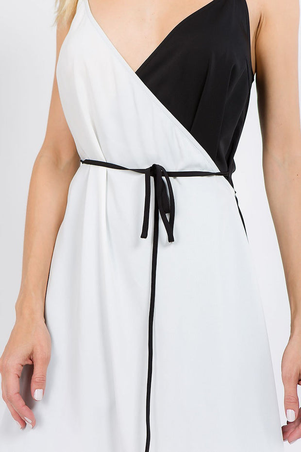 Overlap Wrap Midi Dress