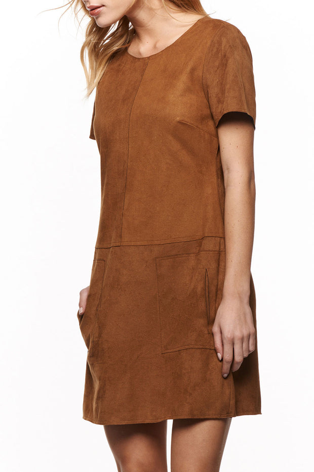 Ultra Suede Dress in Camel