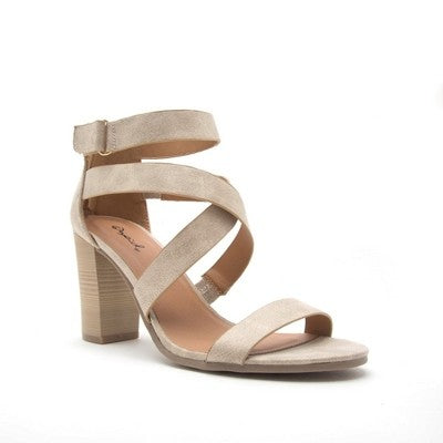 Ankle Strap Open Toe Heels