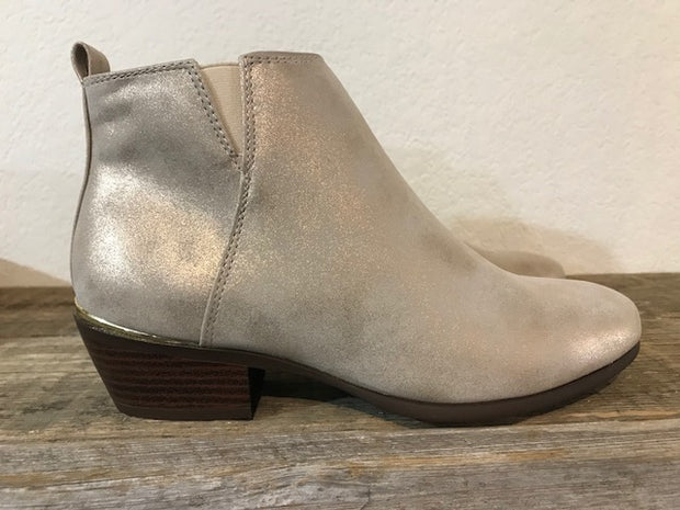 METALLIC FINISH CASUAL BOOTIES