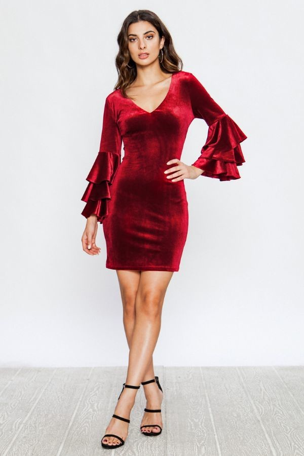 VELVET BODYCON DRESS