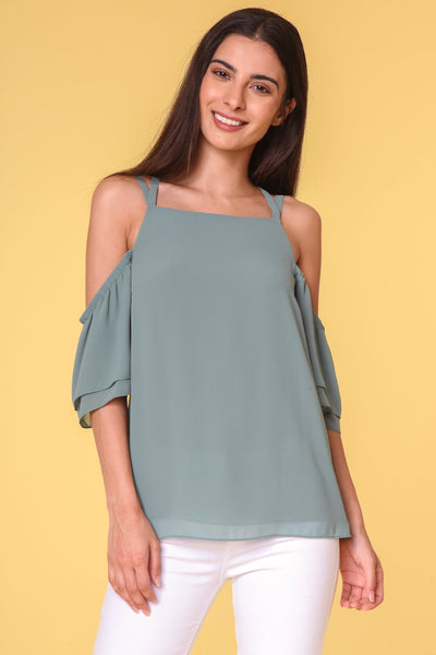 Strappy Off-Shoulder Top with X Back