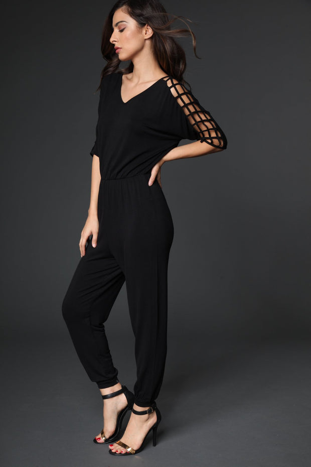 Caged Jogger Jumpsuit