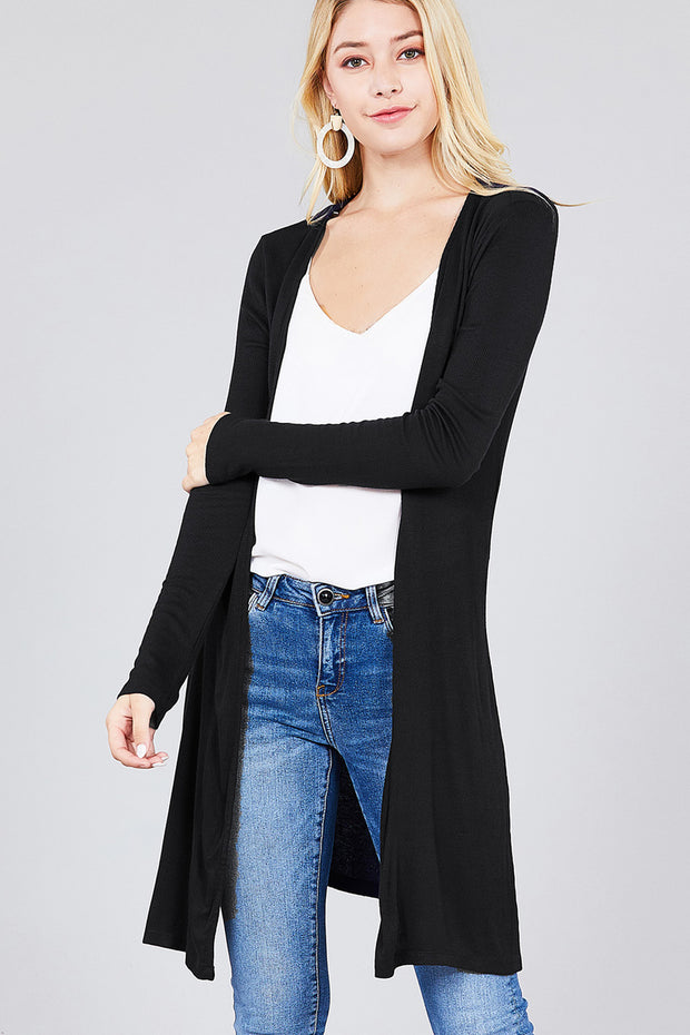 Long Sleeve Open Front Cardigan