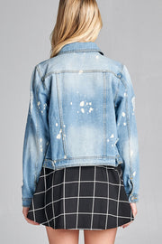 ICONIC BLEACH-SPOT DENIM JACKET