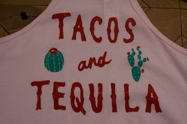 Tacos and Tequila Halter Flared Top