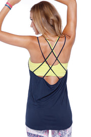 Double Cross Relaxed Tank Top