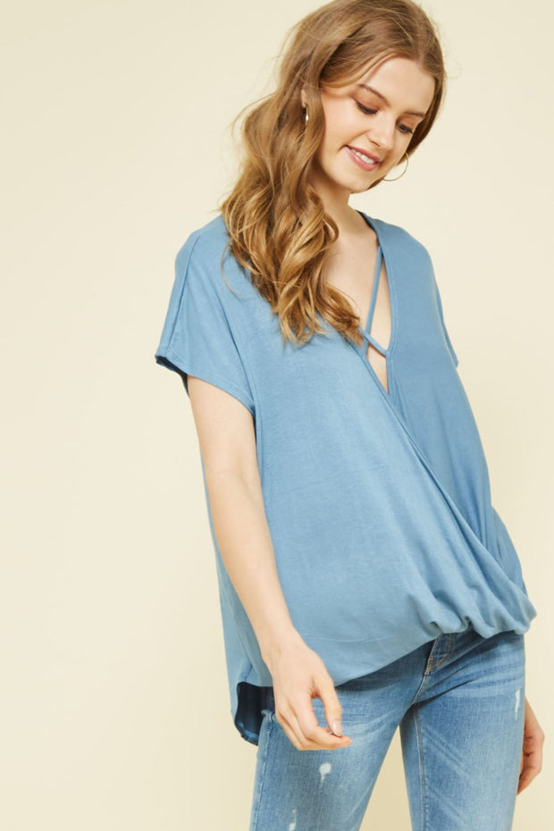 Loose Fit X-Strap Knit Top