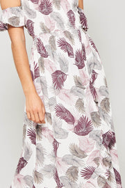 Tropical Woven Maxi Dress
