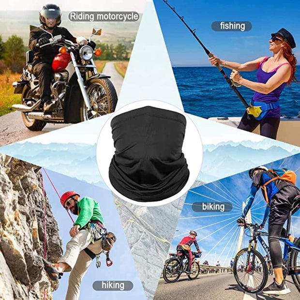 Anti-Microbial Reusable Multi-function Sports Bandana - Silver Ion Coating