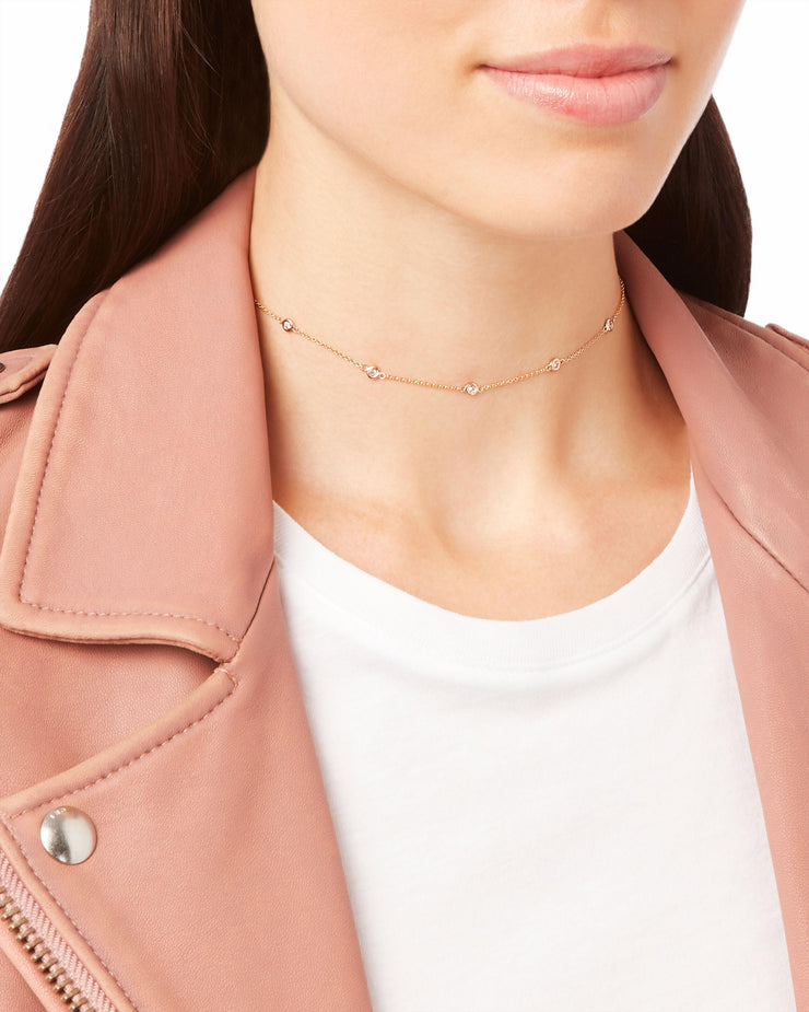 5 DIAMOND SPACED OUT CHOKER