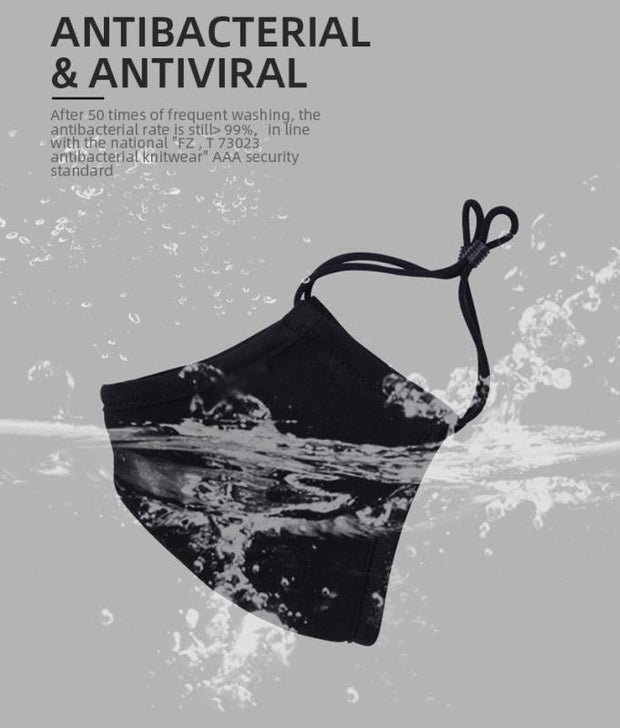 Antibacterial Reusable Face Mask - Silver Ion Coating