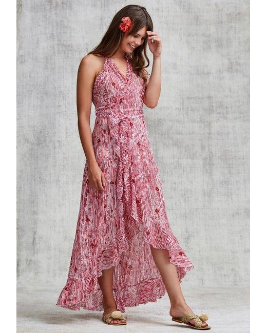 LONG DRESS TAMARA RUFFLED - Pink Fanciful