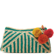 Sonia - Crocheted Raffia Clutch