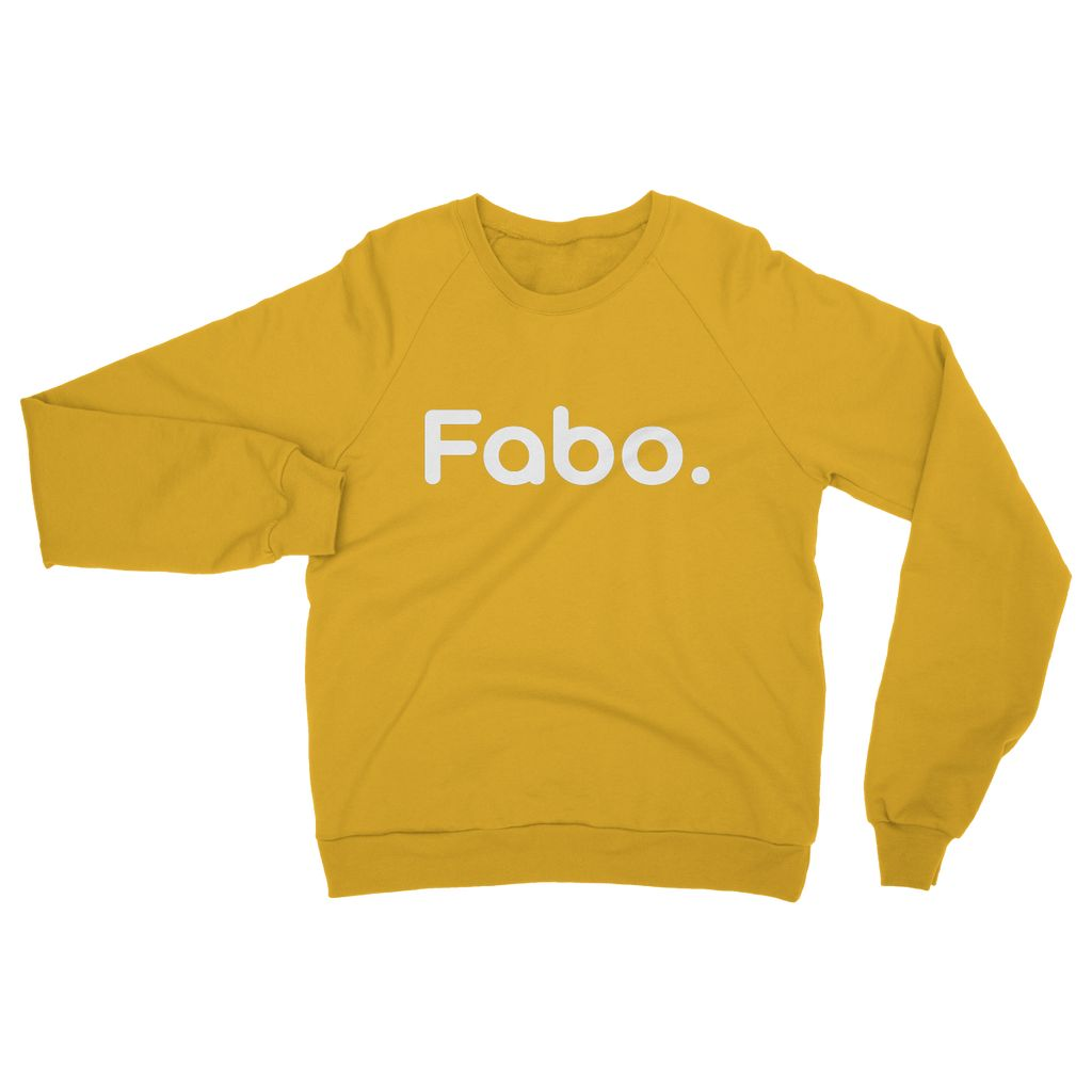 Fabo White Heavy Blend Crew Neck Sweatshirt