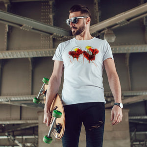 Handpainted Glasses - Men's T shirt - MAYA K