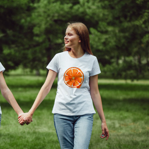 Handpainted Orange - Women's T shirt - MAYA K