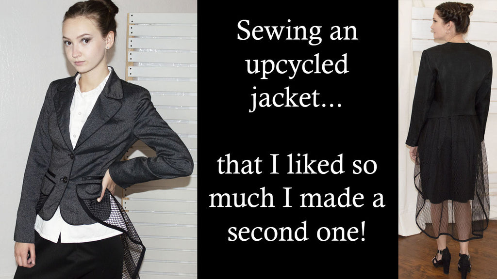 Sewing an upcycled jacket...two actually