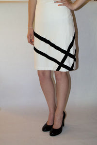 white pencil skirt