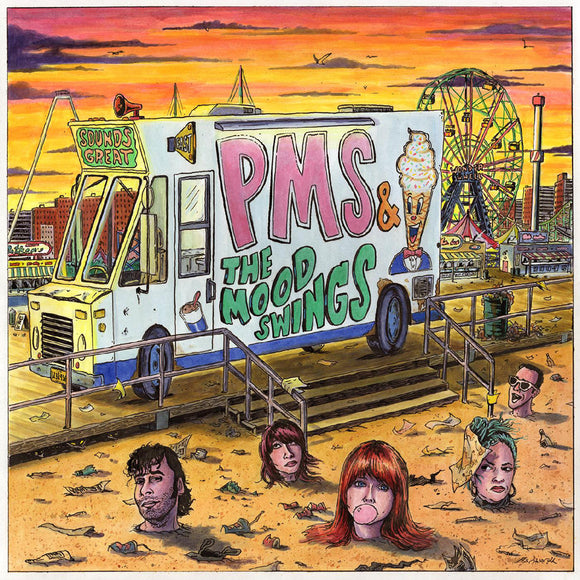 Self-titled debut album by PMS & The Mood Swings on Burger Records