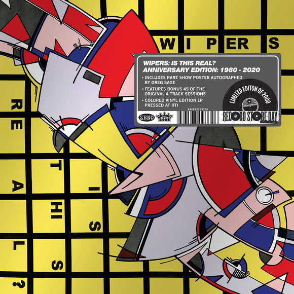 Is This Real? (Anniversary Edition 1980-2020) by The Wipers on Jackpot Records