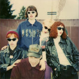 The Frumpies band photo (Tobi Vail, Molly Neuman, Michelle Mae, Billy Karren & Kathi Wilcox)