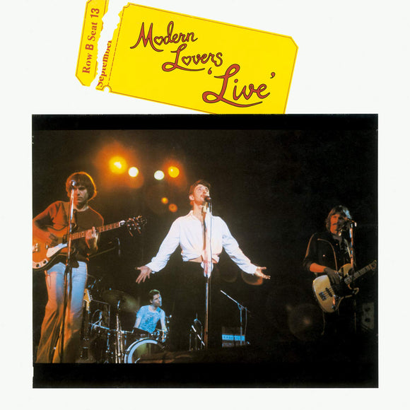 Modern Lovers Live by the Modern Lovers on Music On Vinyl