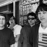 Black and white band photograph of Polvo by Michael Galinsky