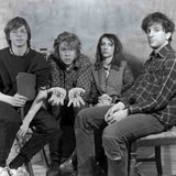 Black and white photo of the band Sonic Youth