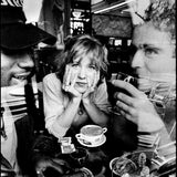 Photograph of  Kristin Hersh, David Narcizo and Bernard Georges of Throwing Muses