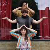 Band photo of Rachel Horwood, Gill Partington, and Rachel Aggs of Trash Kit