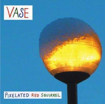 Pixelated Red Squirrel by Vase on Hand Idiom Recordings