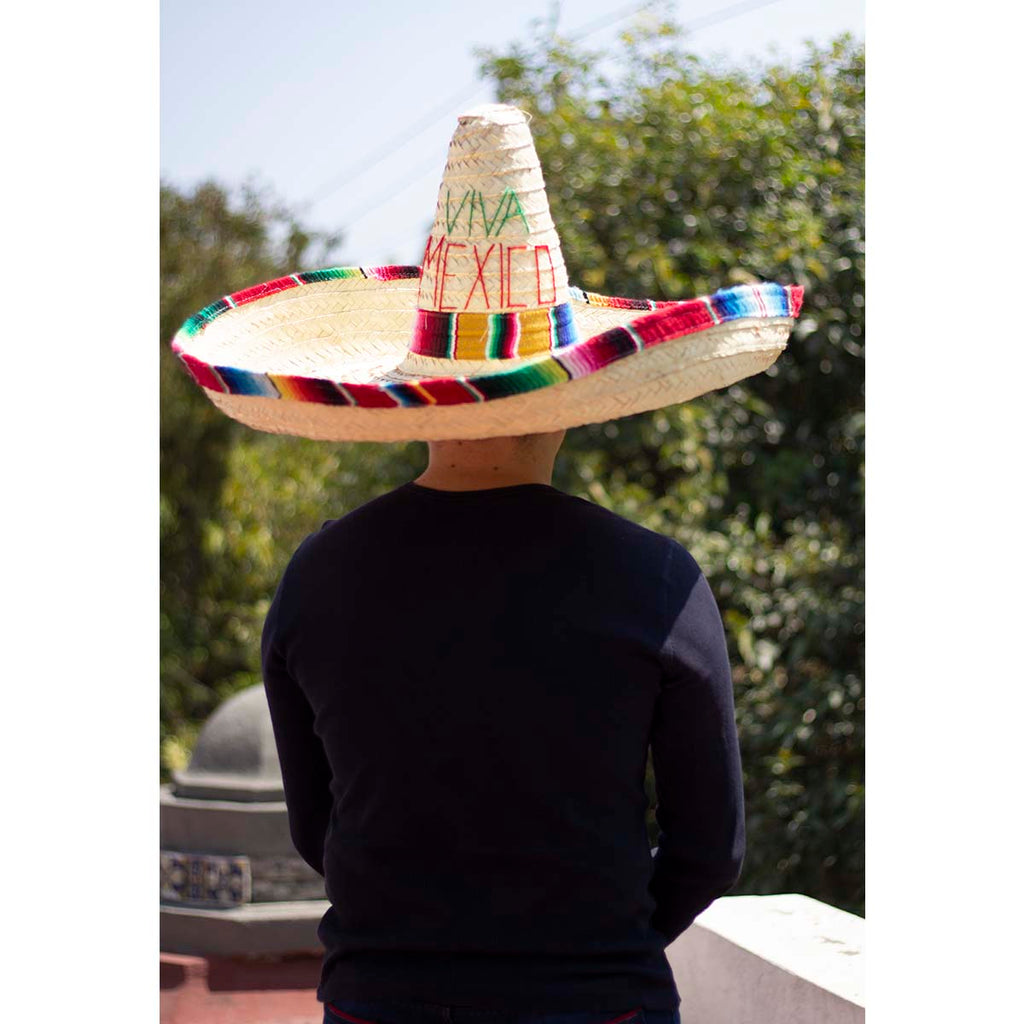7ed529f9 Large Mexican Sombrero / Mexican Hat With Sarape – Mexican Fiesta