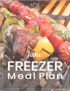 Freezer Meal Plan June