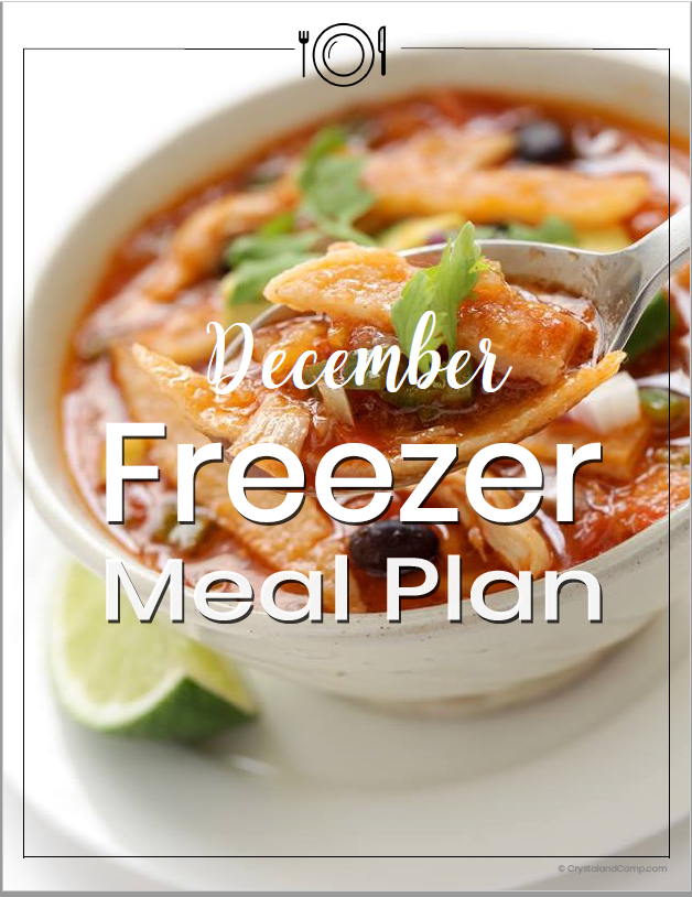 December Freezer Meal Plan